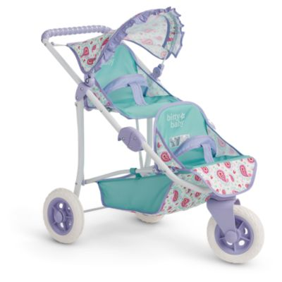 Bitty's Double Baby Doll Stroller | Bitty Baby | American Girl