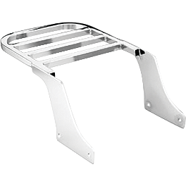 Honda Genuine Accessories Chrome Rear Carrier - 2000 Honda Shadow Spirit 1100 - VT1100C Honda Genuine Accessories Chrome Backrest/Pad