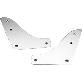 Honda Genuine Accessories Chrome Backrest/Rear Carrier Mounting Brackets - 2005 Honda Shadow Sabre 1100 - VT1100C2 Honda Genuine Accessories Chrome Rear Carrier