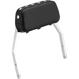 Honda Genuine Accessories Studded Low Chrome Backrest - 2007 Honda VTX1800T1 Honda Genuine Accessories Leather Saddlebags - 18L Fringed