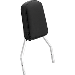Honda Genuine Accessories Plain Tall Chrome Backrest - Honda Genuine Accessories Chrome Windscreen