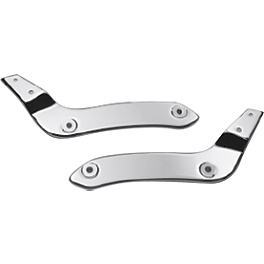 Honda Genuine Accessories Chrome Backrest / Rear Carrier Mounting Brackets - Honda Genuine Accessories Square-Tube Chrome Rear Carrier