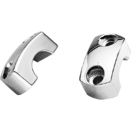 Honda Genuine Accessories Chrome Handlebar Clamps - Kuryakyn Laydown License Plate Holder