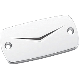 Honda Genuine Accessories Billet Master Cylinder Cap - V Design - Show Chrome Anti-Rotation Long Offset Extensions