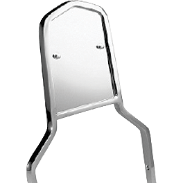 Honda Genuine Accessories Chrome Backrest Trim - 2000 Honda Shadow Spirit 1100 - VT1100C Honda Genuine Accessories Chrome Backrest/Pad