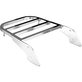 Honda Genuine Accessories Chrome Rear Carrier - 2004 Honda Shadow VLX - VT600C Honda Genuine Accessories Chrome Backrest Kit