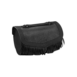 Honda Genuine Accessories Leather Touring Bag - Fringed - 2006 Honda VTX1800F3 Honda Genuine Accessories Synthetic Leather Saddlebags - 18L Studded