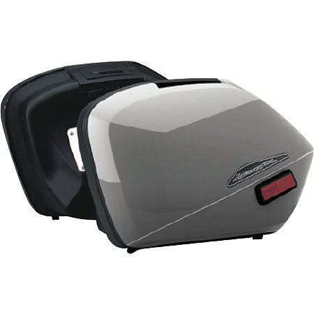 Honda Genuine Accessories Interceptor Hard Saddlebags - Silver - Main