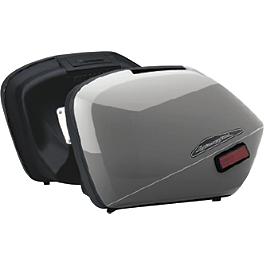 Honda Genuine Accessories Interceptor Hard Saddlebags - Silver - Honda Genuine Accessories Interceptor Hard Saddlebags - Red