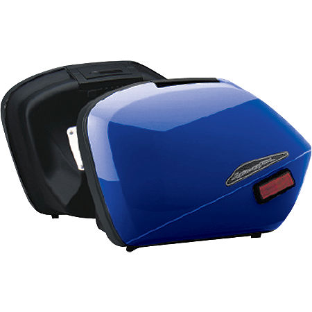 Honda Genuine Accessories Interceptor Hard Saddlebags - Blue - Main