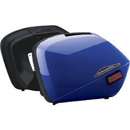 Honda Genuine Accessories Interceptor Hard Saddlebags - Blue - Honda Genuine Accessories Interceptor Hard Saddlebags - Silver