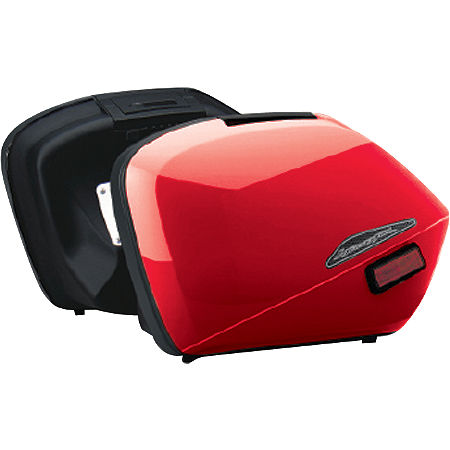 Honda Genuine Accessories Interceptor Hard Saddlebags - Red - Main