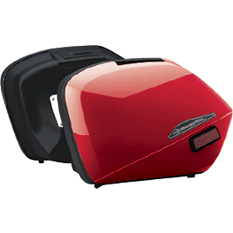 Honda Genuine Accessories Interceptor Hard Saddlebags - Red - Honda Genuine Accessories Interceptor Hard Saddlebags - Silver