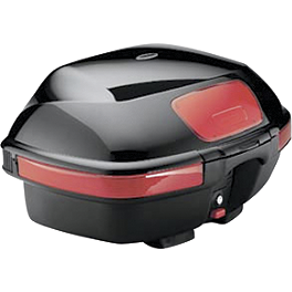 Honda Genuine Accessories Interceptor Sport Touring Trunk Gloss Black - Honda Genuine Accessories Interceptor Hard Saddlebags - Red