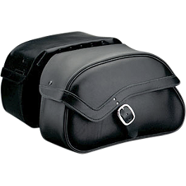 Honda Genuine Accessories Leather Saddlebags - 24L Plain - 2006 Honda VTX1300R Honda Genuine Accessories Leather Touring Bag - Fringed