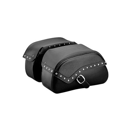 Honda Genuine Accessories Leather Saddlebags - 24L Studded - Main