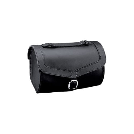 Honda Genuine Accessories Leather Saddlebags - 24L Fringed - Main