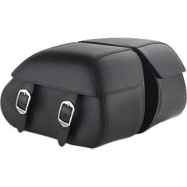Honda Genuine Accessories Synthetic Leather Saddlebags - 18L Plain - 2010 Honda Stateline 1300 - VT1300CR Honda Genuine Accessories Leather Touring Bag - Fringed