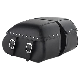 Honda Genuine Accessories Synthetic Leather Saddlebags - 18L Studded - 2005 Honda VTX1800F1 Honda Genuine Accessories Leather Touring Bag - Fringed