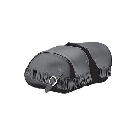 Honda Genuine Accessories Leather Saddlebags - 18L Fringed - Main