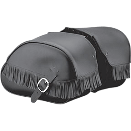 Honda Genuine Accessories Leather Saddlebags - 18L Fringed - 2008 Honda VTX1800F1 Honda Genuine Accessories Synthetic Leather Saddlebags - 18L Studded