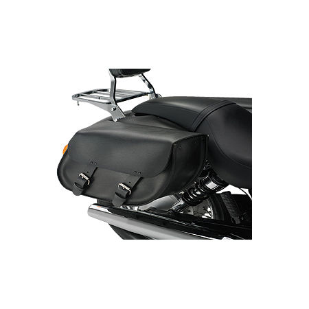 Honda Genuine Accessories Synthetic Leather Saddlebags - Plain - Main