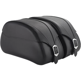 Honda Genuine Accessories Leather Saddlebags - 24L Plain - 2011 Honda Stateline 1300 - VT1300CR Honda Genuine Accessories Leather Touring Bag - Fringed