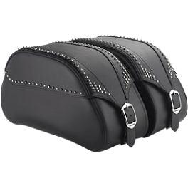 Honda Genuine Accessories Leather Saddlebags - 24L Studded - 2012 Honda Interstate 1300 - VT1300CT Honda Genuine Accessories Chrome Rear Carrier