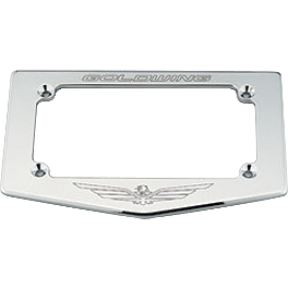 Honda Genuine Accessories Chrome License Plate Frame With Gold Wing Logo - Honda Genuine Accessories Chrome Exhaust Tips With Gl Logo