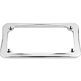 Honda Genuine Accessories Billet License Plate Frame - 2000 Honda Shadow VLX Deluxe - VT600CD Honda Genuine Accessories Chrome Rear Carrier