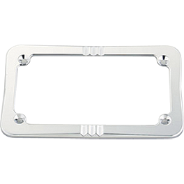 Honda Genuine Accessories Billet License Plate Frame - Neo-Retro - Honda Genuine Accessories Chrome Saddlebag Scuff Covers