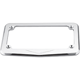Honda Genuine Accessories Billet License Plate Frame - V-Designs - 2004 Honda Shadow VLX - VT600C Honda Genuine Accessories Chrome Rear Carrier
