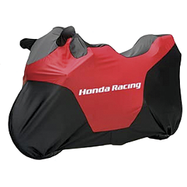 Honda Genuine Accessories Racing Cover - Honda Genuine Accessories Interceptor Hard Saddlebags - Red
