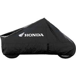 Honda Genuine Accessories Outdoor Cycle Cover - Honda Genuine Accessories Backrest Trim with Shadow Emblem - Chrome
