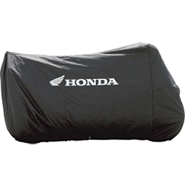 Honda Genuine Accessories Cycle Cover - Honda Genuine Accessories Interceptor Hard Saddlebags - Red
