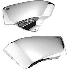 Honda Genuine Accessories Chrome Sidecovers - 2004 Honda Shadow Sabre 1100 - VT1100C2 Honda Genuine Accessories Chrome Handlebar Clamps