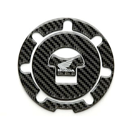 Honda Genuine Accessories Carbon Fiber Fuel Lid Cover - Keiti Gas Cap Pad - Honda Carbon Fiber