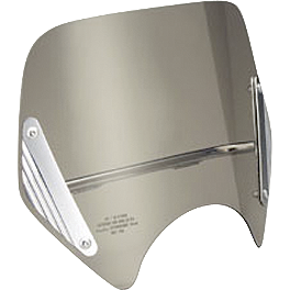 Honda Genuine Accessories Smoke Boulevard Screen - 2006 Honda VTX1800N1 Honda Genuine Accessories Leather Saddlebags - 18L Plain