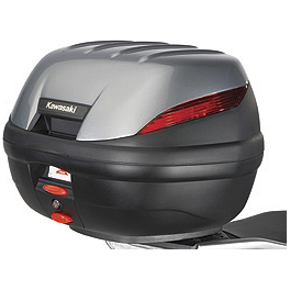 Kawasaki Genuine Accessories 39 Liter Top Case Trim Panel - Ebony - Kawasaki Genuine Accessories 39 Liter Top Case Trim Panel - Candy Neptune Blue