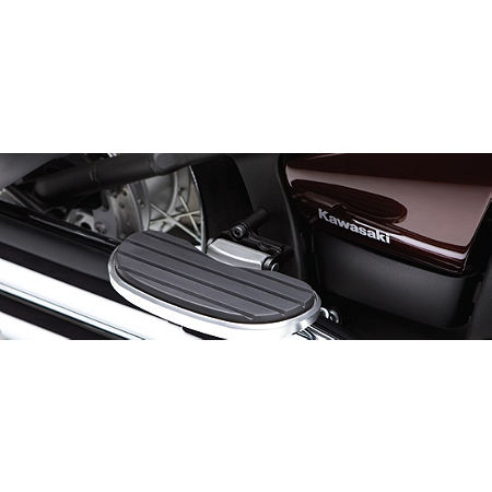 Kawasaki Genuine Accessories Passenger Floorboard Cover Plate - Black - Main