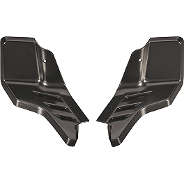 GYTR Aluminum Footwells - Black - 2010 Yamaha YFZ450R GYTR Replacement Footpegs For Nerf Bar/Footwell/Peg Combo