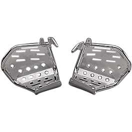 GYTR Aluminum Footwells - Silver - Suzuki Genuine Accessories Heel Guards