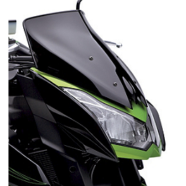 Kawasaki Genuine Accessories Wind Deflector - Smoke - Naked New Generation Windscreen - Black