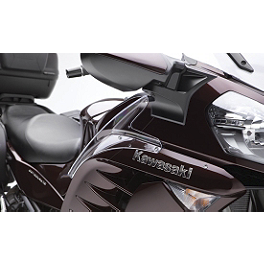 Kawasaki Genuine Accessories Clear Side Spoiler Set - Kawasaki Genuine Accessories Black Opaque Tank Pad