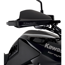 Kawasaki Genuine Accessories Hand Guard Cover - Black - Kawasaki Genuine Accessories Black Opaque Tank Pad
