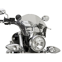 Yamaha Star Accessories Boulevard Midnight Windshield - Yamaha Star Accessories Quick Release Tall Midnight Windshield - 19