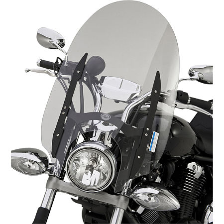Yamaha Star Accessories Quick Release Short Midnight Touring Windshield - 17
