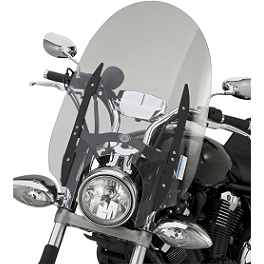 "Yamaha Star Accessories Quick Release Short Midnight Touring Windshield - 17"" - Yamaha Star Accessories Rear Midnight Luggage Rack - Tall"