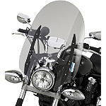 "Yamaha Star Accessories Quick Release Short Midnight Touring Windshield - 17"" - Yamaha Star Accessories Cruiser Wind Shield and Accessories"