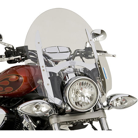 Yamaha Star Accessories Quick Release Short Chrome Touring Windshield - 17
